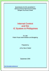 Internal Control in Philippines