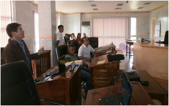 Mr. Resabal, BPP - IEC Specialist on a meeting visit
