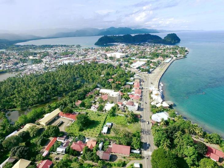 Areal view of Tandag